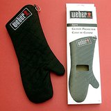 WEBER #126 BBQ MITT / POTHOLDER:BLACK w/LOGO PATCH NIP in Naperville, Illinois