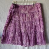 TALBOTS NWT Women's Petite Large Purple Cotton Skirt in Naperville, Illinois