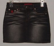Bongo Black Wash Denim Jean Mini Skirt In Women's Size 5 Juniors in Morris, Illinois